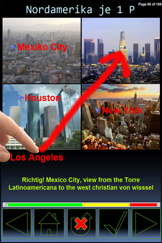 Screenshot iMegacities Quiz Game